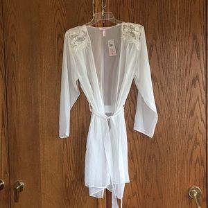 NWT beaded sheer robe